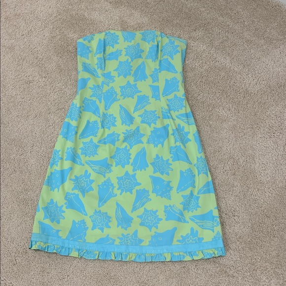 323f2c6ac231 Lilly Pulitzer Dresses | Strapless Shell Dress Size 4 | Poshmark
